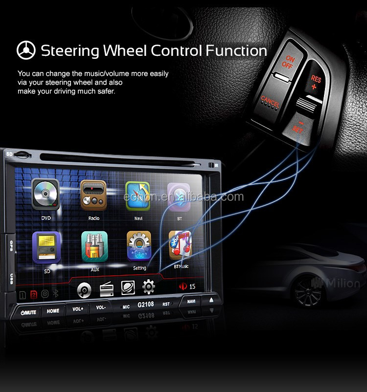 "MILION G2108 6.95"" Digital Touch Screen DVD GPS Navigator"