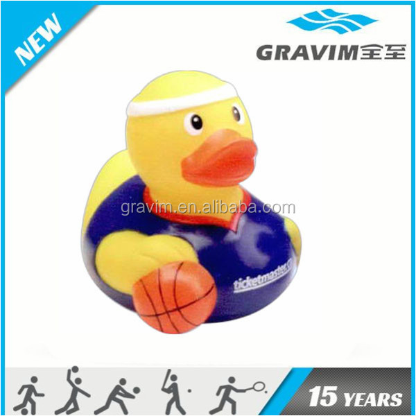 Sports duckies basketball/ soccer ball duck toy