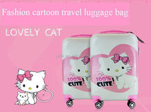 "hard case luggage 20""/24"" inch spinner wheel ABS travel suitcase cute cartoon trolley carry on bags"