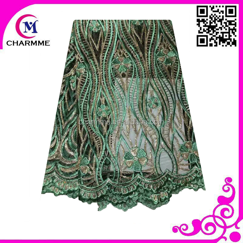 latest nigeria tulle lace fabric to match women