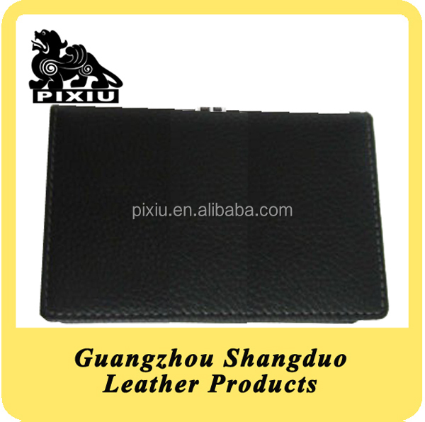 Custom Human Leather Businessman Card Holder for Name Card