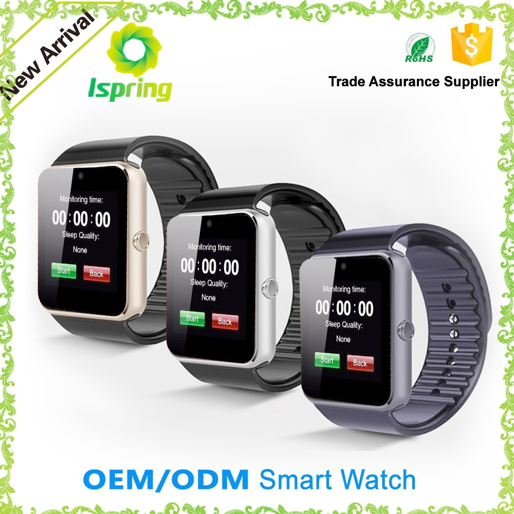 OEM/ODM factory direct sale gt08 mltifuntional smart bluetooth watch with cheaper price