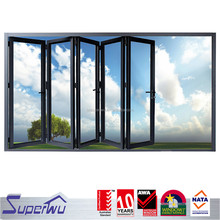 Superwu product interior temporary aluminium water proof bifold shower door bulk buy from china