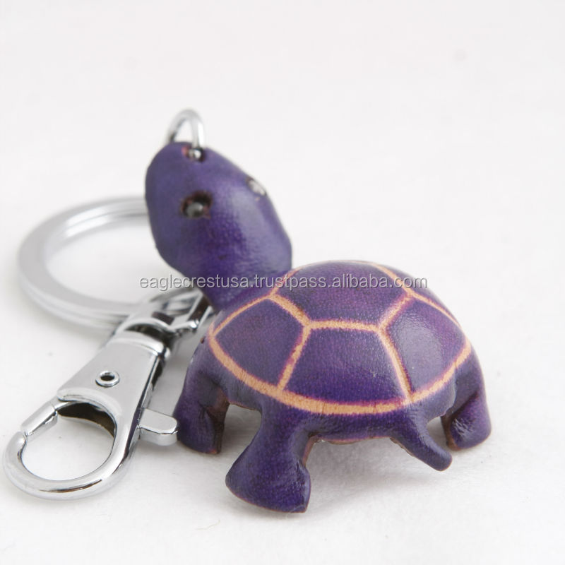 Handmade Leather Turtle Key Chain