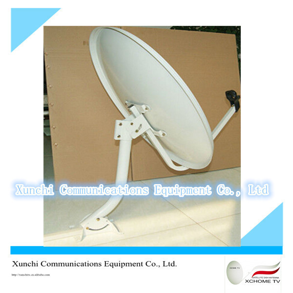 ku band 60cm wall mount big-footing antena satelital for chile market