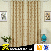 Cationic yarn dyed leaves pattern living room window curtain with jacquard
