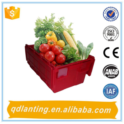 Hot sale! Red plastic storage container