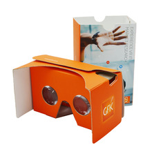 Factory directly price gold supplier vr googles with headband 4 color custom logo printing cardboard vr 3d glasses