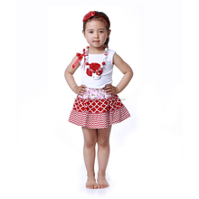 New Arrival 2016 Hot Summer Wholesale Baby clothing Sets Girls' Fashion Cotton Sets