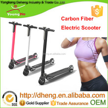 2016 hot selling 10.4Ah battery carbon fiber scooter electric, with 5 inch wheel