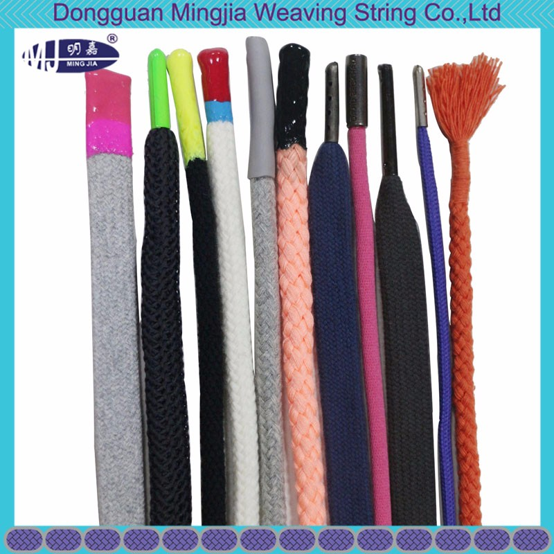 eco-friendly OEM design garment drawstring cord with silicone end
