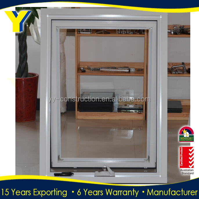 In China Alibaba Golden Supplier large glass aluminum profile to make awing window and doors