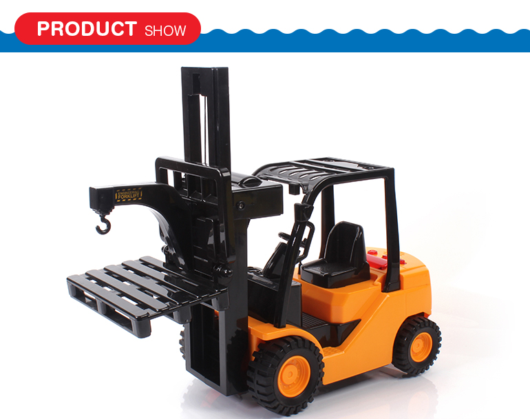 Educational lights friction car electric internal combustion forklift toy with sounds