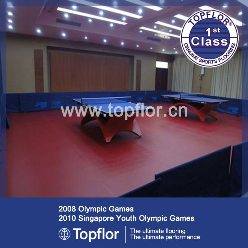 Non-slip Durable Table Tennis Court Flooring For School Gymnasium