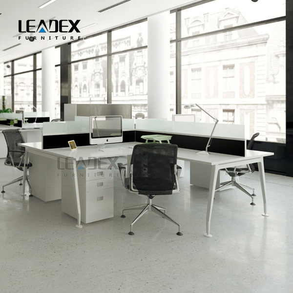 2016 Fancy office tables and chairs set 4 seat bench workstation furniture