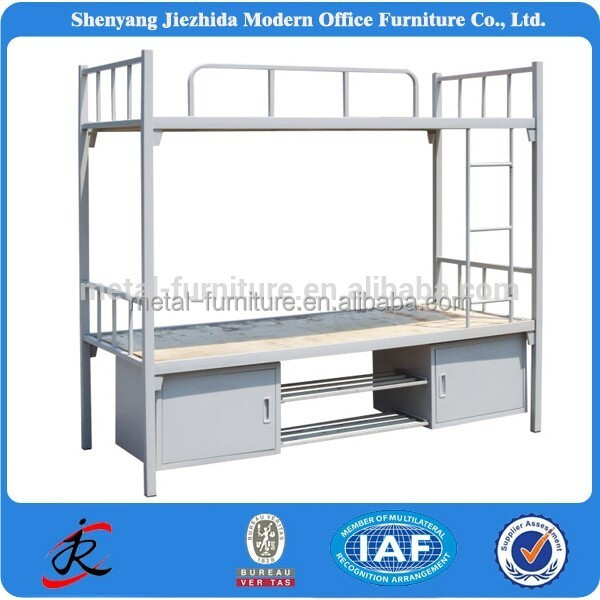 2016 HOT TOP SALES Dormitory Students Metal Bunk Bed School Dormitory Bunk Bed