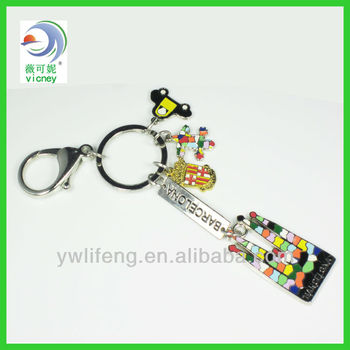 Key Tag Holder Buckle Button Kirsite Metal Keychain Engraved Metal Keychain--- Factory Directly