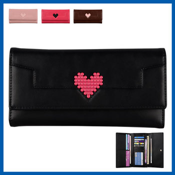 C&T Fashion Genuine Pearl Clutch Long Wallet Ladies Leather Purse