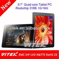 9.7'' gps wifi bluetooth tv 3g android nfc tablet pc