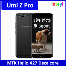 Original Umi Z Pro MTK Helio X27 Deca Core Android 6.0 Mobile Phone 5.5'' Cell Phone 4G RAM 32G ROM Dual Back Camera Smartphone