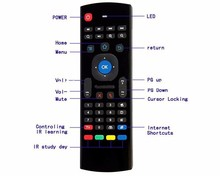 Mx3 2.4G 2.4G Air Mouse For Android Tv Box Double Keyboard Wireless Mx3 Air Mouse With Ir Remote