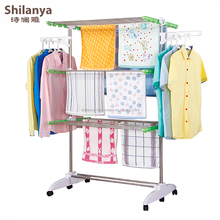 3 tier high quality folding hanging clothes drying rack