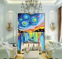 3D Canvas Painting Abstract Customized Personalized Hallway Wall Pictures For Living Room Modern Home Canvas Art Color ship