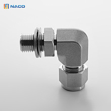 1/8 Ss316 Adjustable Male Elbow Double Coupling Tube Fittings