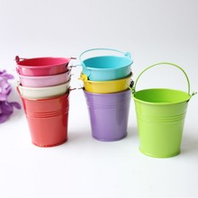 Hot selling galvanized tin pail planter flower pots small metal buckets