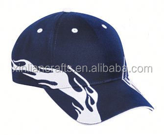 New design free sample flame embroidered hat