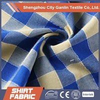yarn dyed cotton polyester shirt textile fabric garment fabric