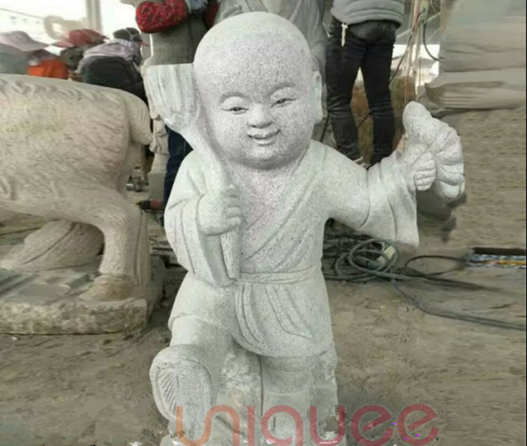 funny laughing baby Buddha sculpture