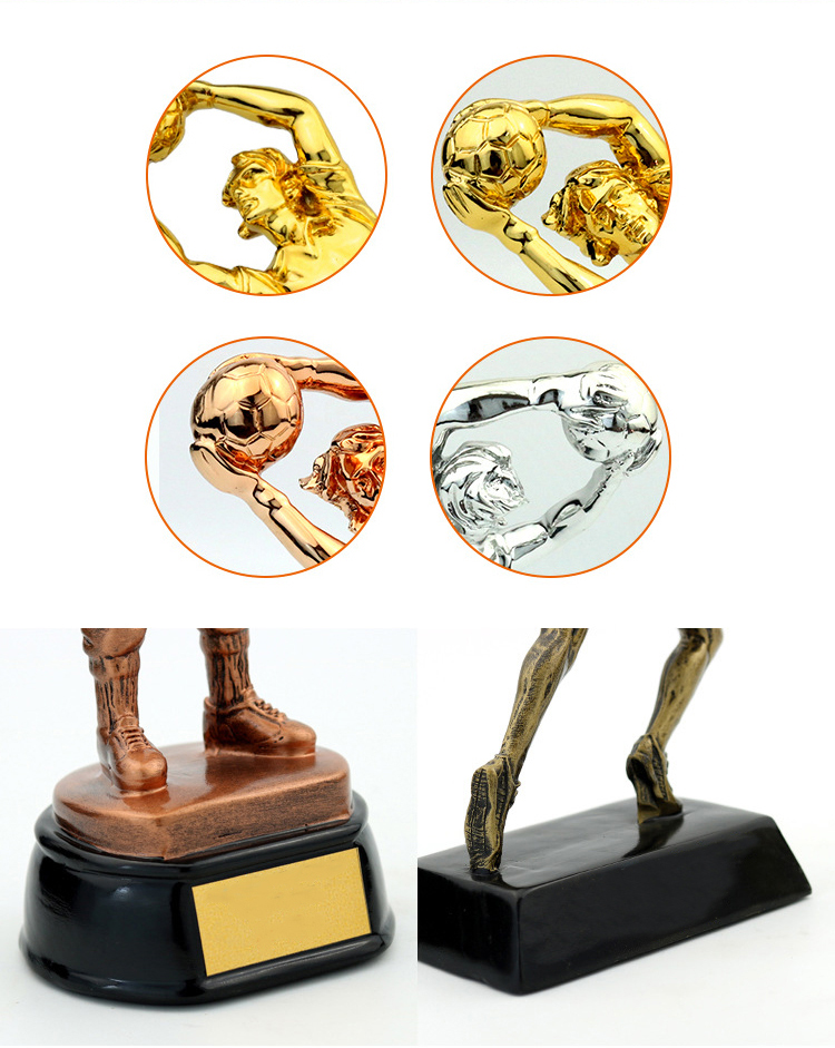 Resin crafts trophy fans souvenirs goalkeeper commemorative gifts awards trophy