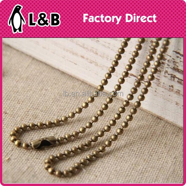 2015 wholesale brass ball chain for garment/bags/craft
