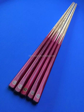 Single House cue, cheap price 1-piece red painting snooker cue sticks
