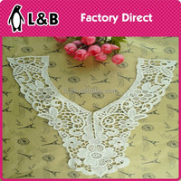 2015 new design wholesale ladies suit cotton embroidery collar