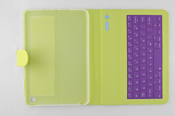 Brand new blue tooth keyboard leather case for iPad mini