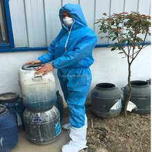 safety clothing disposable SMS coverall suit