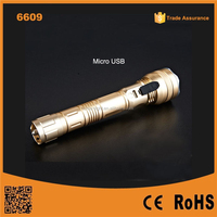 6609 Promotion portable multi-function tactical police flashlight, power bank 5600 mah for iphone