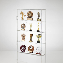 Wall Mounting Clear Acrylic Medal Display Cabinet, Award Trophy Display