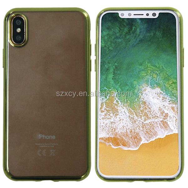 Alibaba best sellers soft tpu plating mobile phone case covers for iPhone X