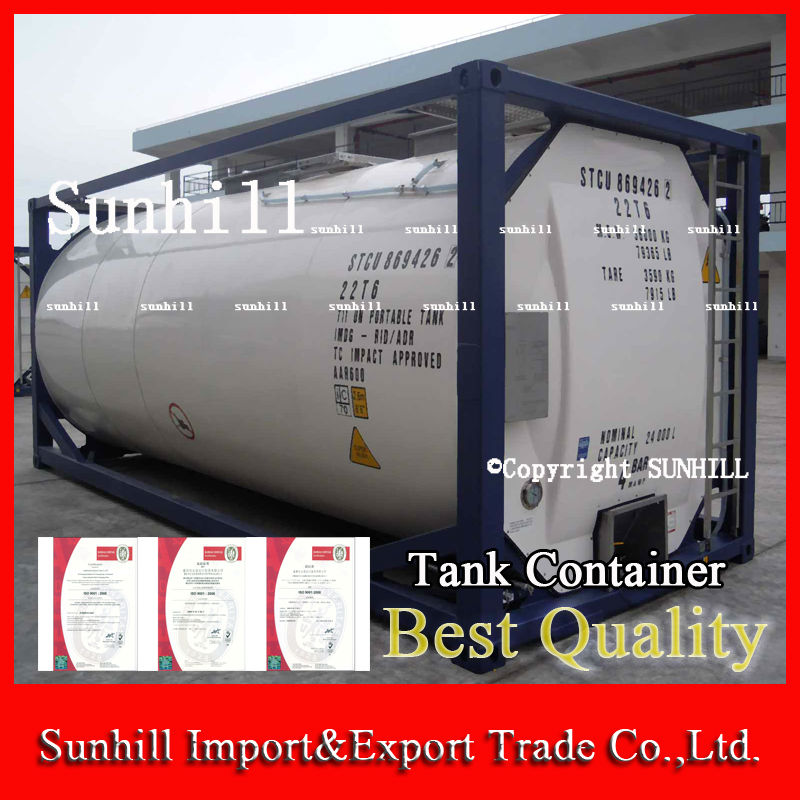 Low price iso 20ft tank liquid shipping container 21000L for sale