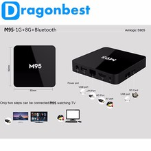 Üst Satış Quad Core UHD 4 K Amlogic S905 1 GB Ram KODI M95 X9 Android TV Box Dongle Sopa