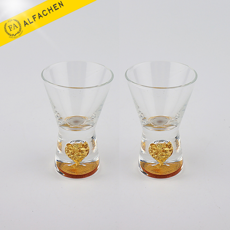 Set of 2 Wholesale Mini Crystal Heavy Base Shot Glass