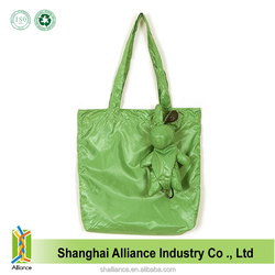 Bear Shape High Quality 100% Waterproof Eco Folding Shopping Bag For Carrefour