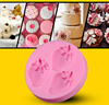 New silicone DIY 3D mold fondant chocolate cake mold silicone baking tools three Strawberry