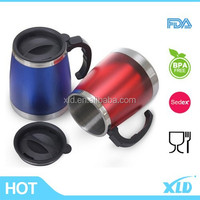 Fashionable unbreakable double wall stainless steel car mug auto mug travel mug with logo as you requested