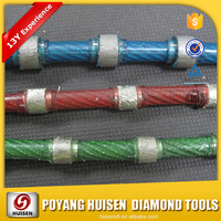 Reinforced concrete 10.5mm Granite Squarrying Diamond Wire saw for marble and granite cutting tools