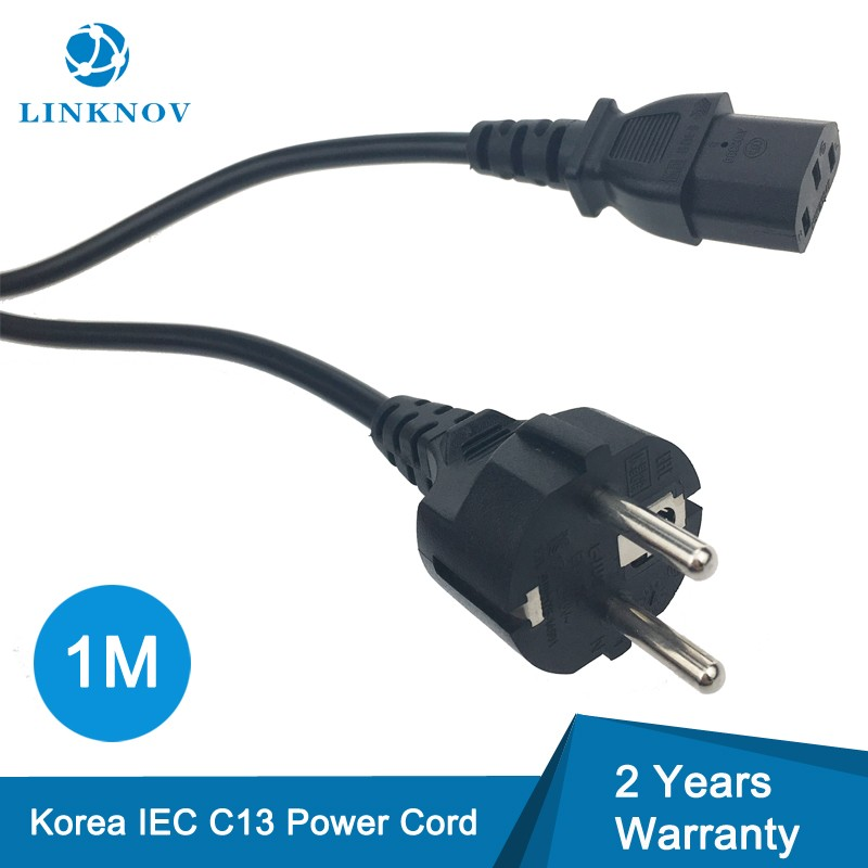1M 3-Prong IEC C13 Adapter Power Cord Jack in KC Listed