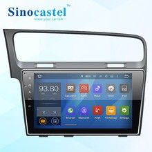 Sinocastel Best Selling 10.1 inch Touch screen VW Golf7 dashboard car gps radio